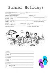 english teaching worksheets summer holidays. Black Bedroom Furniture Sets. Home Design Ideas