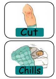 English Worksheet: Injuries (16 flashcards)