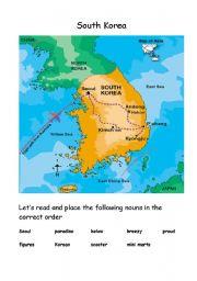 English Worksheet: South Korea