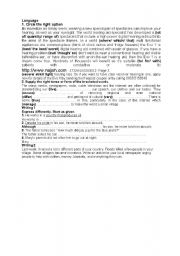 English Worksheets: exercices 2