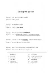 Visiting a doctor esl role play