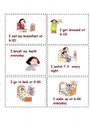 English Worksheets: Miming activity cards