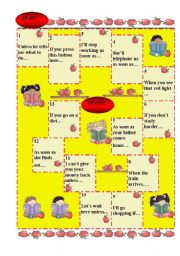 English Worksheet: First Conditional Boardgame (Warmer)
