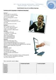 English Worksheet: Telephoning and E-mailing English