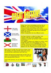 English Worksheets: Introduction to Britain