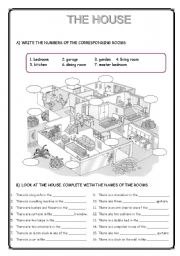 English Worksheets: THE HOUSE