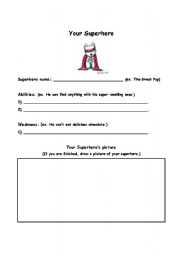 Worksheets Create Your Own Worksheets english teaching worksheets superheroes make a superhero