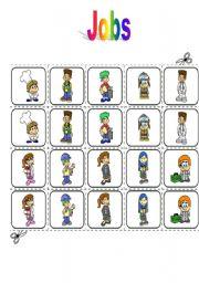 English Worksheets: Jobs - memory game