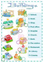 English Worksheets: buildings