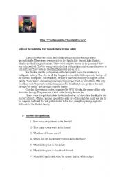 English Worksheets: Film: Charly and the Chocolate Factory