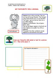 English Worksheets: My favourite wild animal
