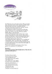 English Worksheets: MRS WALKER�S SON
