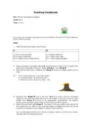 English worksheet: Practicing Conditionals Adult