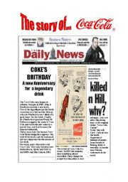 English Worksheet: THE STORY OF COCA-COLA