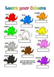 Learn your Colours - This is a very simple worksheet ...