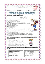 When is your birthday?