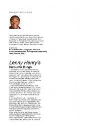 English Worksheets: Lenny Henry
