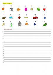 English worksheet: WRITE SENTENCES