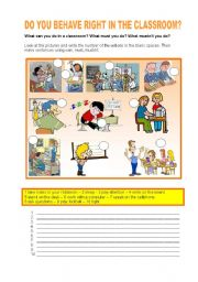 English worksheet: DO YOU BEHAVE RIGHT?