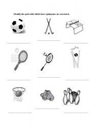 English teaching worksheets: Sports