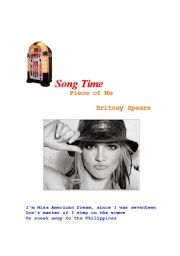 English Worksheet: Britney Spears - Piece Of Me (Worksheet) - Portuguese / English