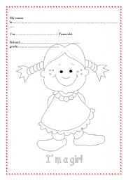 English Worksheets: Cover or Personal ID for youngers pupils 2