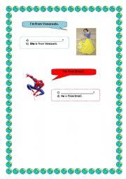 English worksheet: Countries worksheet part 3