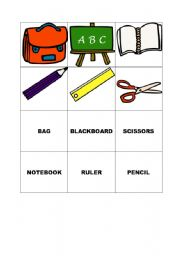 English Worksheets: MEMORY GAME (CARDS) - SCHOOL