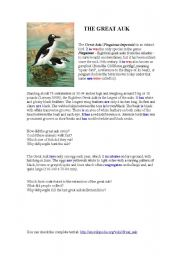 English Worksheet: Why are there no penguins in the Artic ?