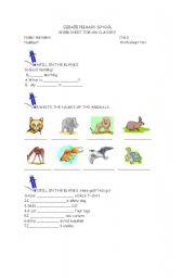 English Worksheets: Worksheet for 4th grades