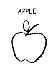 English Worksheets: apple