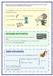 English Worksheets: Musical instruments (2 of 2) (05.09.08)
