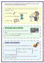English Worksheet: Musical instruments (2 of 2) (05.09.08)
