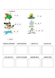 English Worksheets: ANIMALS_EX_1