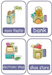 English Worksheet: buildings flashcards (20 flashcards)