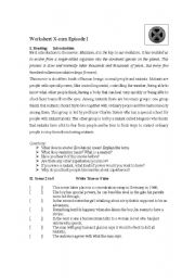 English Worksheets: Scenes from the Movie X-men