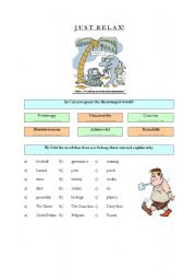English Worksheets: Just Relax