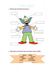 English Worksheets: Krusty�s Body