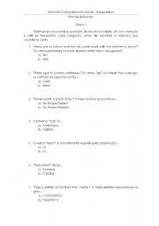 English Worksheets: Teste diagn�stico