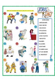 English Worksheets: Jobs - Match Part - 2