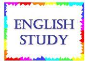 English Worksheets: ebglish study