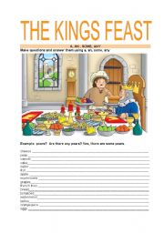 English Worksheets: THE KING�S FEAST