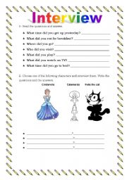 English Worksheets: Interview