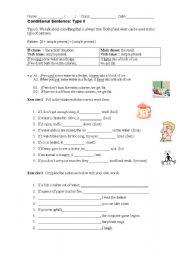 English Worksheet: Conditional sentence (Type 0)