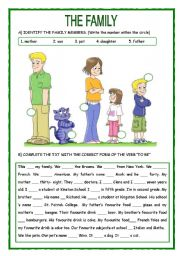 English Worksheets: The Family
