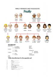 FAMILY MEMBERS AND POSSESSIVES