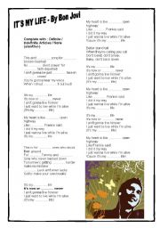 English Worksheets: It�s my life - By Bon Jovi