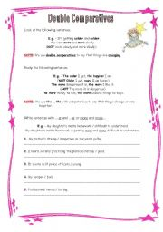 English Worksheet: Double comparatives + exercises
