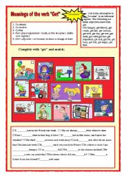 English Worksheets: Meanings of the verb