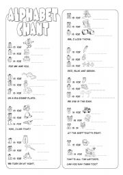 English Worksheet: Alphabet Chant